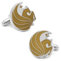 Central Florida University Silver-Plated and Enamel Mascot Cufflinks