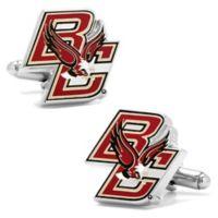 Boston College University Silver-Plated and Enamel Mascot Cufflinks