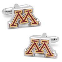University of Minnesota Silver-Plated and Enamel Team Logo Cufflinks