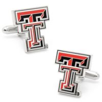 Texas Tech University Silver-Plated and Enamel Team Logo Cufflinks