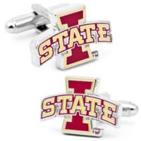 Iowa Sate University Silver-Plated and Enamel Team Logo Cufflinks