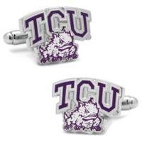 TCU Silver-Plated and Enamel Team Logo Cufflinks