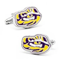 LSU Silver-Plated and Enamel Mascot Cufflinks