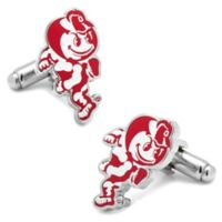 Ohio State University Silver-Plated and Enamel Vintage Mascot Cufflinks