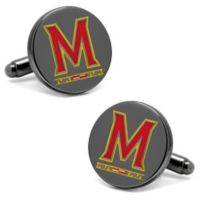 University of Maryland Silver-Plated and Enamel Team Logo Cufflinks