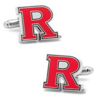 Rutgers University Silver-Plated and Enamel Logo Cufflinks
