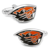Oregon State University Silver-Plated and Enamel Mascot Cufflinks