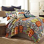 Levtex Home Moesha Reversible Full/Queen Quilt Set in Navy/Red