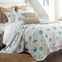 Levtex Home Seaglass Reversible King Quilt Set in Blue