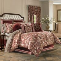 J. Queen New York Rosewood Queen Comforter Set in Burgundy