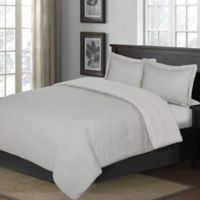 Yarn Dye Stripe King Comforter Set in Blue