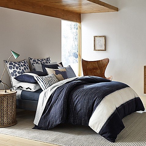 Ed ellen degeneres bleu comforter set bed bath beyond - Bed bath and beyond bedroom furniture ...