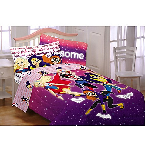 DC Comics™ Super Hero Girls Cosmic Comforter Set In Purple