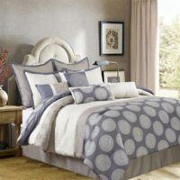 Nanshing Dante 10-Piece Reversible Queen Comforter Set in Beige/Grey