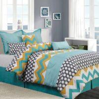 Nanshing Nolan 7-Piece California King Comforter Set in Blue/Yellow