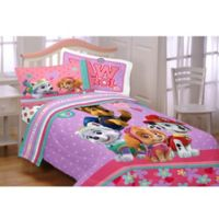 Paw Patrol Pals 4-Piece Twin Comforter Set in Pink