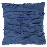 Levtex Home Clea Ruffled Square Throw Pillow in Navy