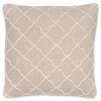 Levtex Home Victoria Rope Sparkle Burlap Square Throw Pillow in Taupe