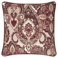 J. Queen New York Rosewood 20-Inch Square Throw Pillow in Burgundy