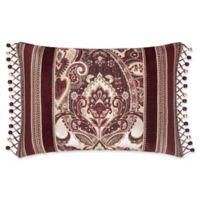 J. Queen New York Rosewood Boudoir Throw Pillow in Burgundy
