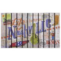 """""""Life is Better in Nashville"""" 30-Inch x 18-Inch Door Mat"""