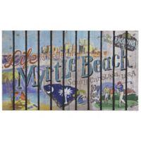 """""""Life is Better in Myrtle Beach"""" 30-Inch x 18-Inch Door Mat"""