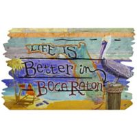 """""""Life is Better in Boca Raton"""" 30-Inch x 18-Inch Door Mat"""