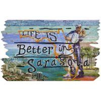 """""""Life is Better in Sarasota"""" 30-Inch x 18-Inch Door Mat"""
