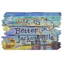 """""""Life is Better in Jacksonville"""" 30-Inch x 18-Inch Door Mat"""