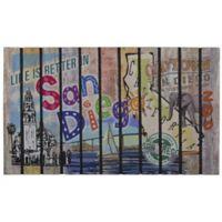 """""""Life is Better in San Diego"""" 30-Inch x 18-Inch Door Mat"""