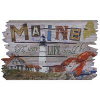 """""""Life is Better in Maine"""" 30-Inch x 18-Inch Door Mat"""