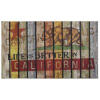 """""""Life is Better in California"""" 30-Inch x 18-Inch Door Mat"""