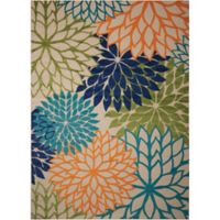 Nourison Aloha Floral Burst 7-Foot 10-Inch x 10-Foot 6-Inch Indoor/Outdoor Multicolor Area Rug