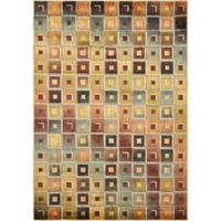 Nourisan Aristo Multicolor Tile 3-Foot 9-Inch x 5-Foot 9-Inch Accent Rug