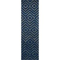 Barclay Butera Intermix Storm 2-Foot 3-Inch x 8-Foot Runner in Dark Blue