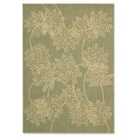 Nourison Capri Leaves 5-Foot 3-Inch x 7-Foot 5-Inch Area Rug in Sage