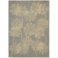 Nourison Capri Leaves 7-Foot 9-Inch x 10-Foot 10-Inch Area Rug in Slate