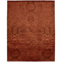 "Nourison Nightfall 9'9"" x 13'9"" Machine Woven Area Rug in Flame"