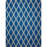 Nourison Portico 2' x 3' Hand Tufted Indoor/Outdoor Mat in Navy