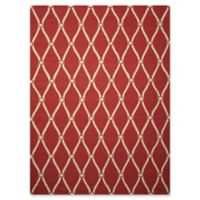"Nourison Portico 5' x 7'6"" Hand Tufted Indoor/Outdoor Area Rug in Red"