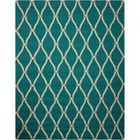 "Nourison Portico 8' x 10'6"" Hand Tufted Indoor/Outdoor Area Rug in Aqua"