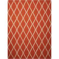 "Nourison Portico 8' x 10'6"" Hand Tufted Indoor/Outdoor Area Rug in Orange"