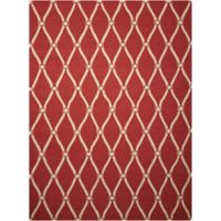 "Nourison Portico 8' x 10'6"" Hand Tufted Indoor/Outdoor Area Rug in Red"