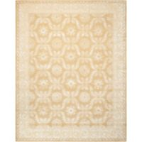 "Nourison Symphony 7'6"" x 9'6"" Hand Tufted Area Rug in Gold"