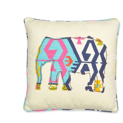 Levtex Home Moesha Elephant Square Throw Pillow In Taupe