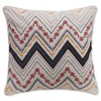 Levtex Home Moesha Chevron Square Throw Pillow in Cream