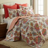 Levtex Home Victoria Reversible Full/Queen Quilt Set in Coral