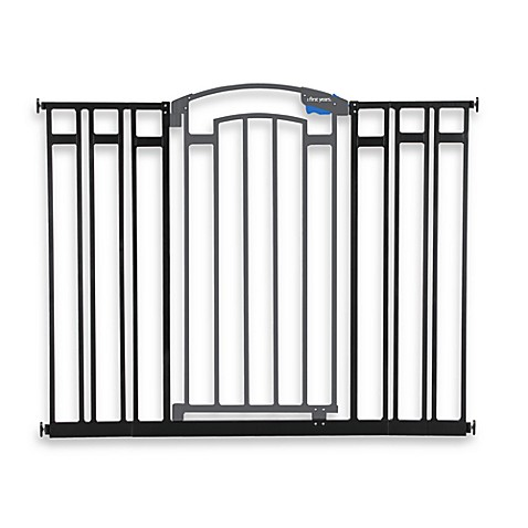 The First Years Extra Tall Metal Home Decor Gate In Black Grey