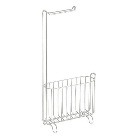 interdesign classico toilet paper holder and magazine rack bed bath beyond. Black Bedroom Furniture Sets. Home Design Ideas