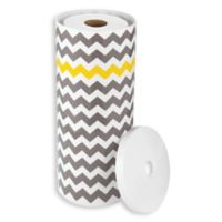 InterDesign 3-Roll Standing Toilet Paper Holder in Grey/Yellow